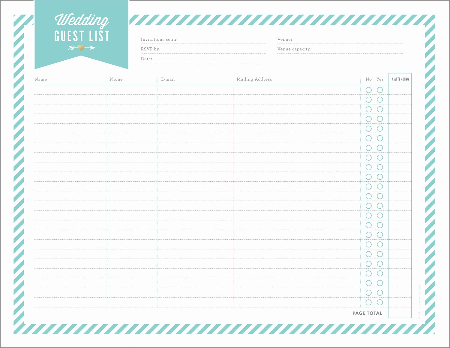 Wedding Guest List Template Printable Inspirational Free Wedding Planning Printables & Checklists