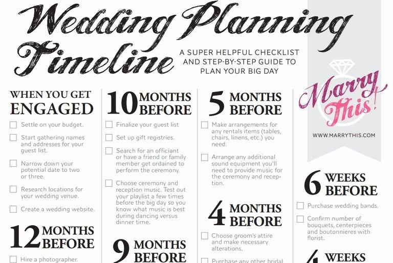 Wedding Planner Checklist Printable Beautiful 11 Free Printable Checklists for Your Wedding Timeline