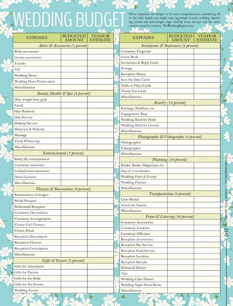 Wedding Planner Checklist Printable Beautiful Wedding Bud Checklist Swanky Weddings Swanky Weddings