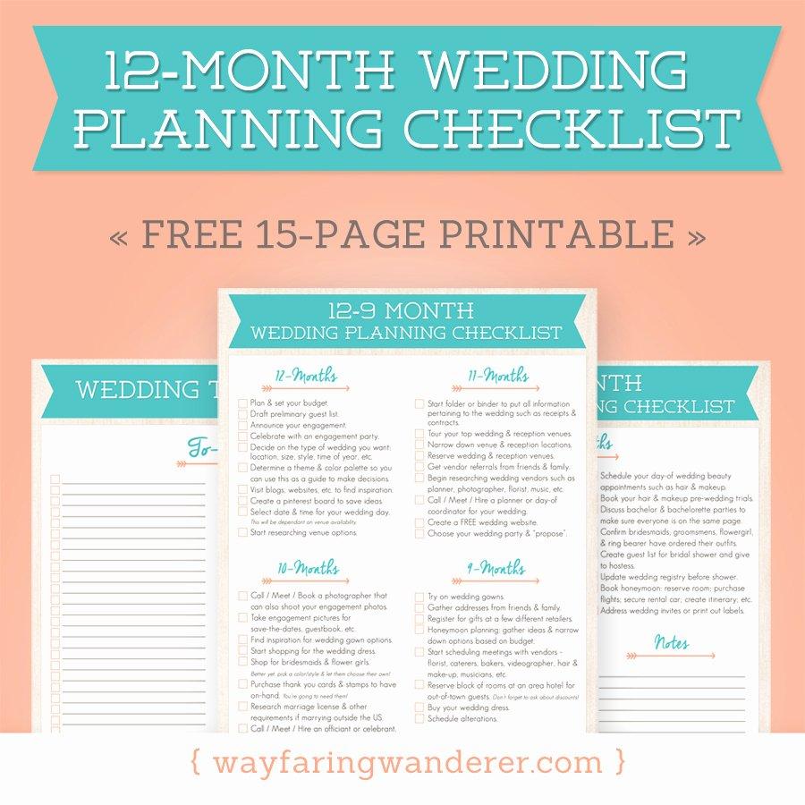 Wedding Planner Checklist Printable Beautiful Wedding Planning Checklist