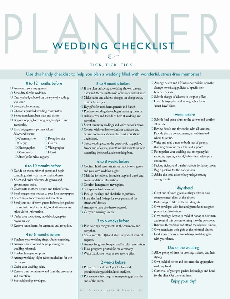 Wedding Planner Checklist Printable Elegant Best 25 Wedding Planning Checklist Ideas On Pinterest