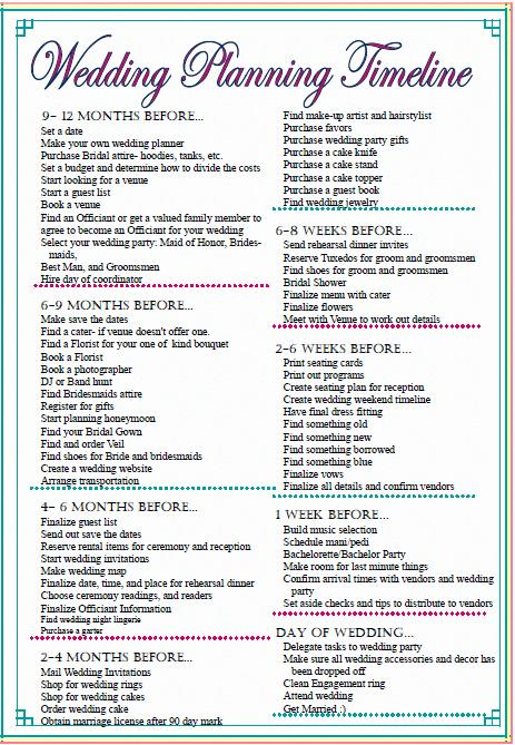 Wedding Planner Checklist Printable Fresh Sleepless In Diy Bride Country Wedding Checklist