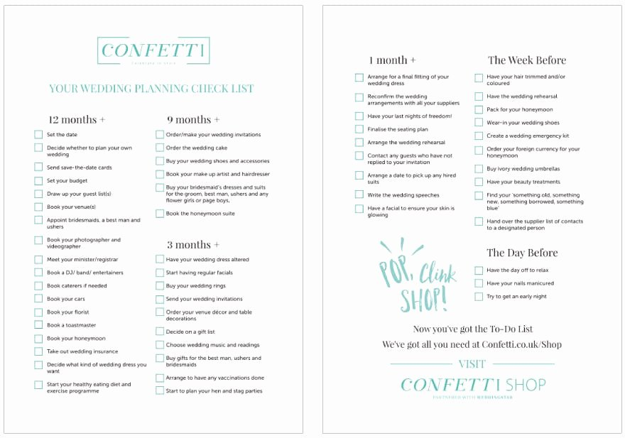 countdown to your wedding the ultimate checklist