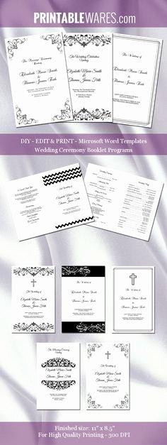 Wedding Program Templates Microsoft Word Awesome 1000 Ideas About Wedding Program Templates On Pinterest