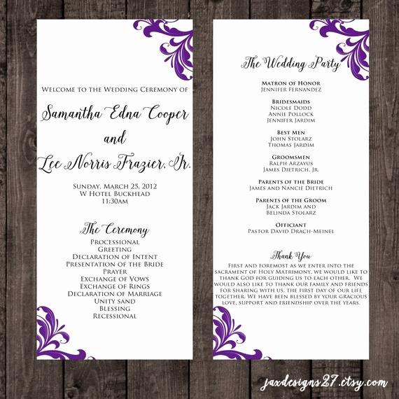 Wedding Program Templates Microsoft Word Awesome Wedding Program Template Wedding Programs Tea Length