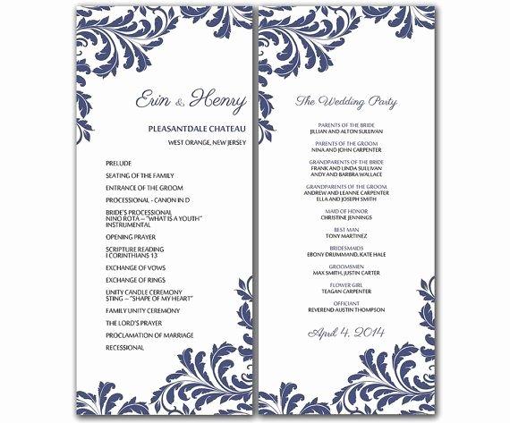Wedding Program Templates Microsoft Word Beautiful Diy Vintage Leaf Wedding Program Microsoft Word Template