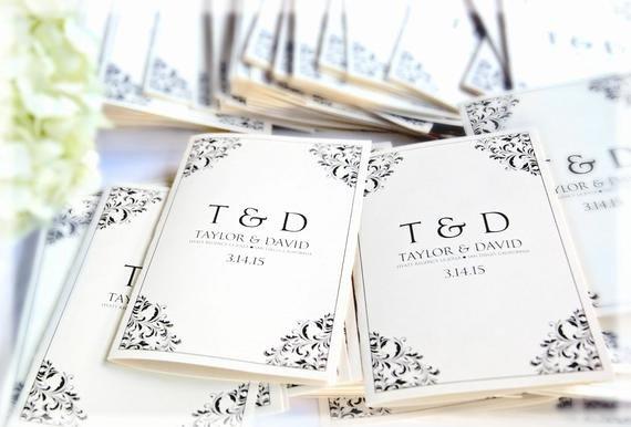 Wedding Program Templates Microsoft Word Beautiful Wedding Program Template Download Instantly by Karmakweddings