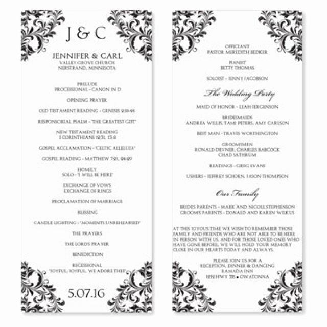 Wedding Program Templates Microsoft Word Beautiful Wedding Program Template Download Instantly Edit Your