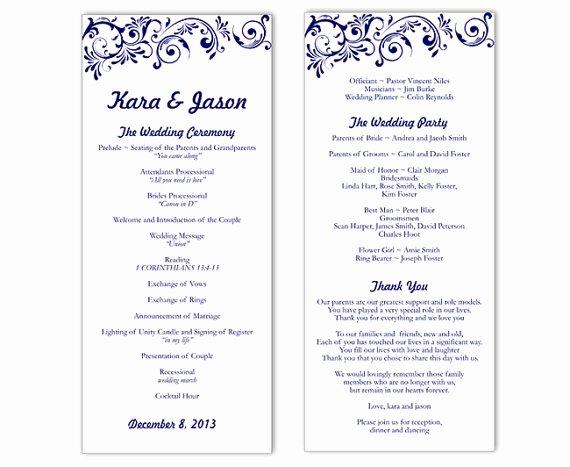 Wedding Program Templates Microsoft Word Best Of Wedding Program Template Word