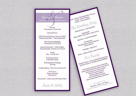 Wedding Program Templates Microsoft Word Inspirational Diy Wedding Program Template Download Instantly