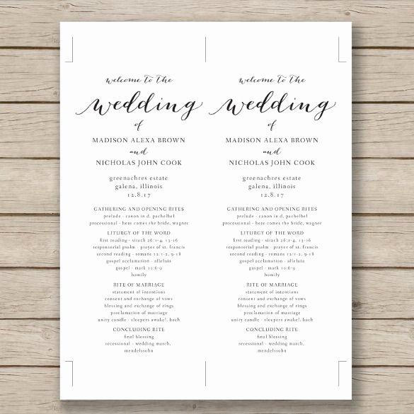Wedding Program Templates Microsoft Word Inspirational Wedding Program Template – 41 Free Word Pdf Psd