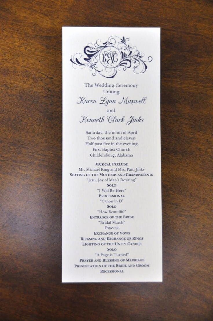 Wedding Reception Program Example Awesome Pinterest • the World's Catalog Of Ideas