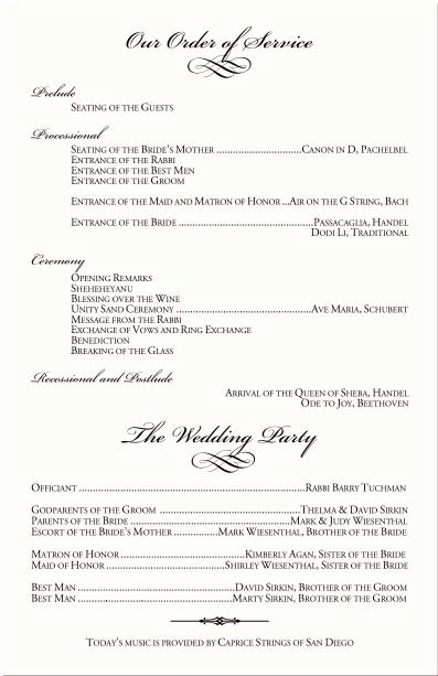 Wedding Reception Program Example Fresh Best 25 Wedding Program Samples Ideas On Pinterest