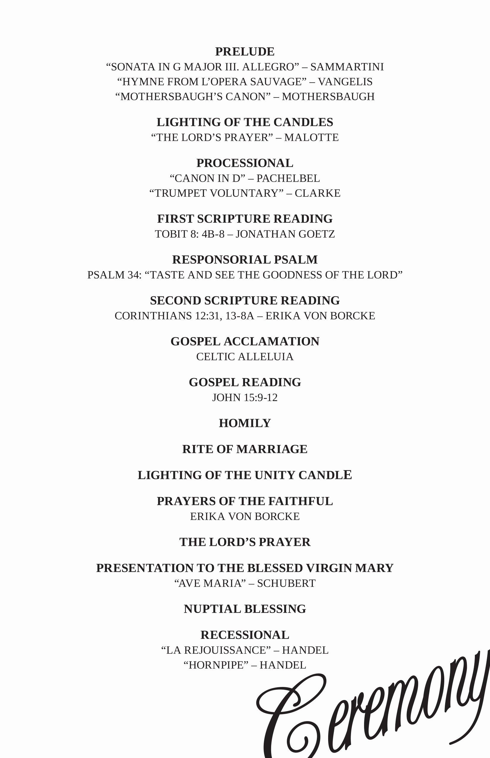 Wedding Reception Program Example Fresh High School Graduation Ceremony Emcee Script Wel E