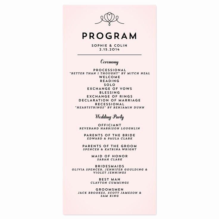 Wedding Reception Program Example Luxury Wedding Reception Program Wording Ideas