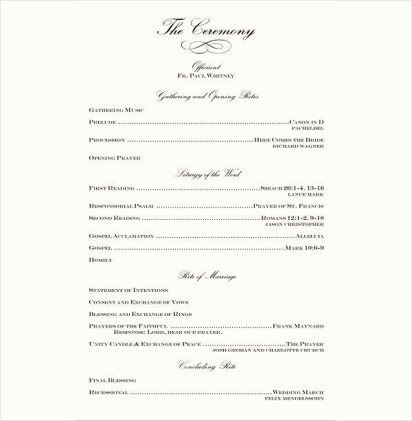 Wedding Reception Program Example Unique 7 Wedding Reception Program Templates Psd Vector Eps
