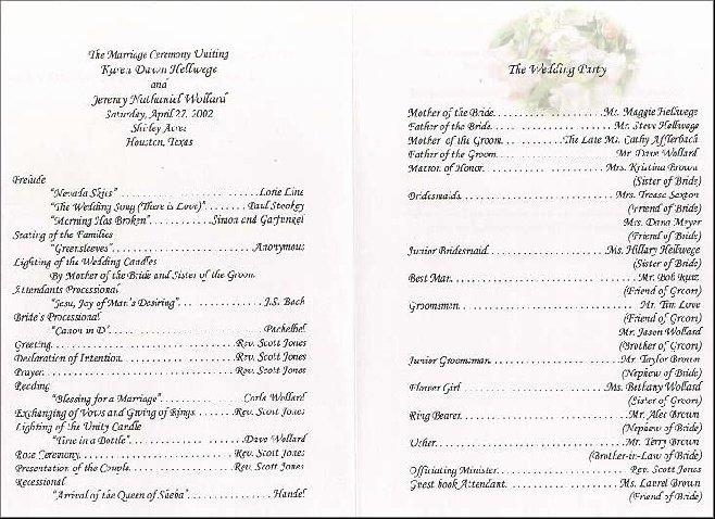Wedding Reception Program Example Unique Sample Wedding Reception Program Wedding