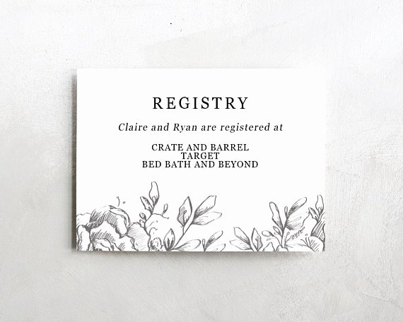 Wedding Registry Cards Template Fresh Wedding Registry Card Wedding Info Card Download Registry
