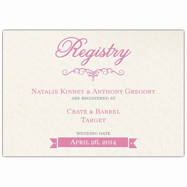 Wedding Registry Cards Template New Pretty Bride Bridal Registry Cards