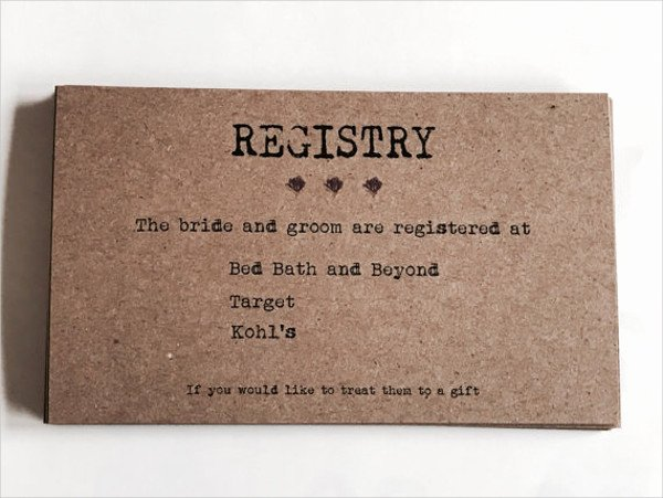 Wedding Registry Cards Template Unique 63 Wedding Card Templates