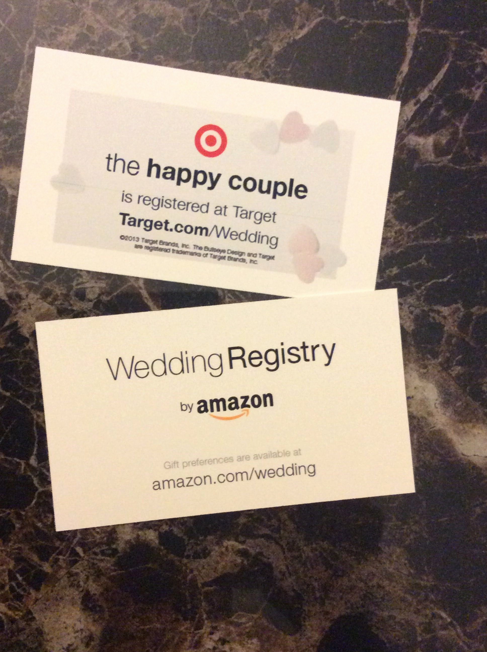 Wedding Registry Cards Template Unique Wedding Registry Use Business Cards to Let People Know