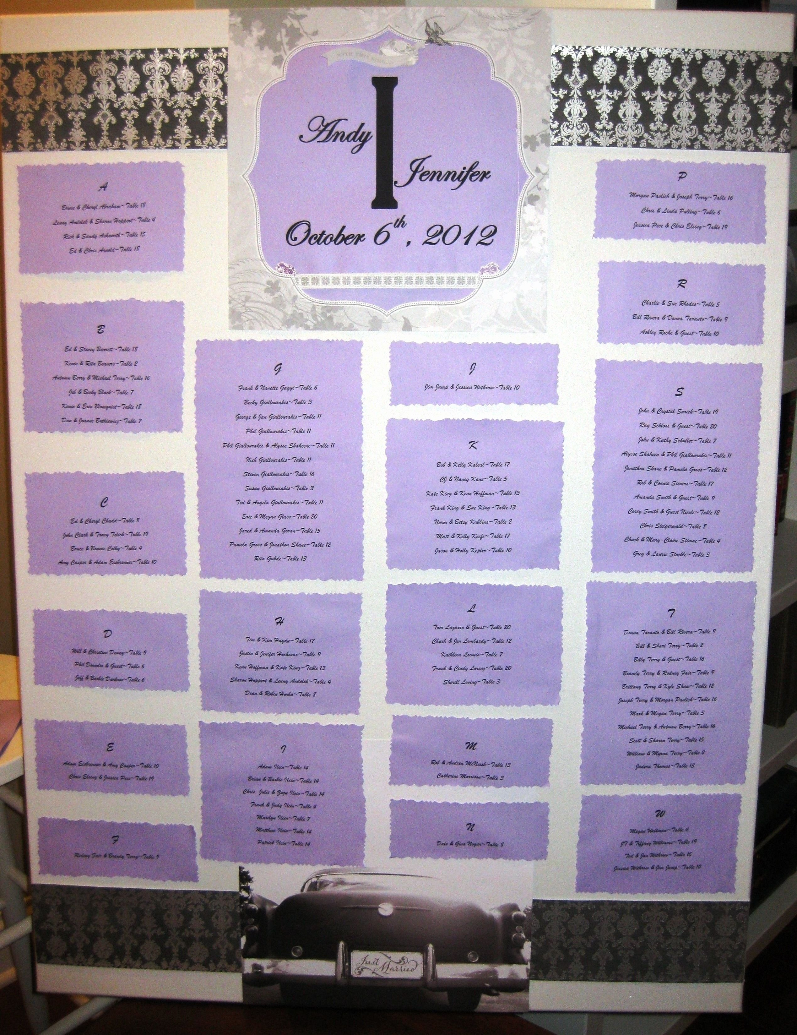 Wedding Seating Chart Alphabetical Awesome Make Your Own Wedding Reception Seating Chart Mine is