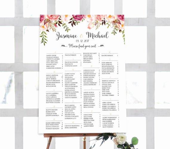 Wedding Seating Chart Alphabetical Beautiful Wedding Seating Chart Alphabetical Wedding Seating Chart