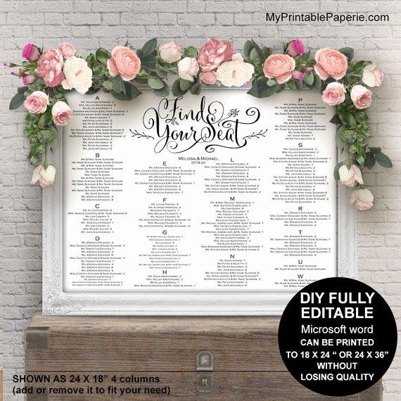Wedding Seating Chart Alphabetical Fresh Wedding Seating Chart Alphabetical Wedding Seating Chart
