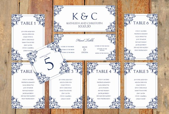 Wedding Seating Chart Template Word Best Of Wedding Seating Chart Template Download Instantly Edit