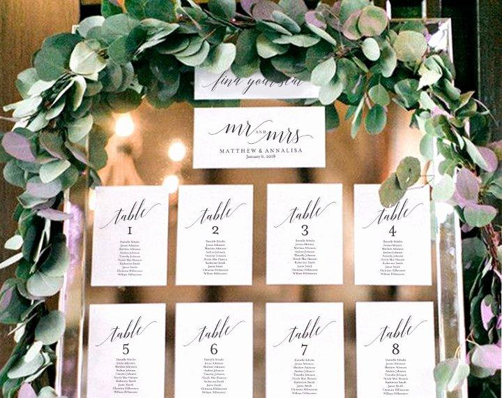 Wedding Seating Chart Template Word Elegant 9 Wedding Seating Chart Templates Editable Psd Ai Pdf