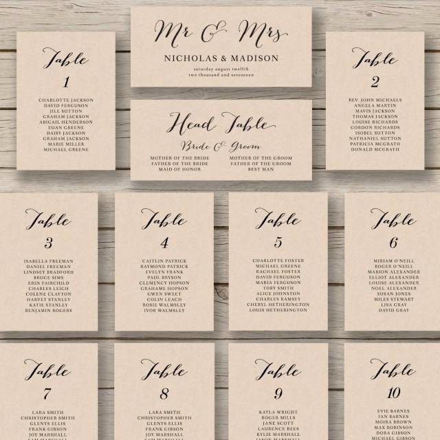 Wedding Seating Chart Template Word Elegant Wedding Seating Chart Template Printable Seating Chart