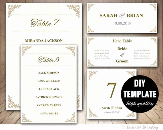 Wedding Seating Chart Template Word Fresh Gold Wedding Seating Chart Template Wedding Place Card