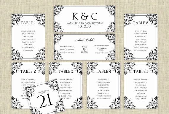 Wedding Seating Chart Template Word Inspirational Wedding Seating Chart Template Download Instantly
