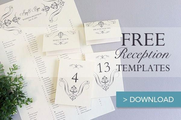 Wedding Seating Chart Template Word New Free Printable Wedding Reception Templates