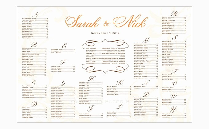 Wedding Seating Chart Template Word Unique Seating Chart Template