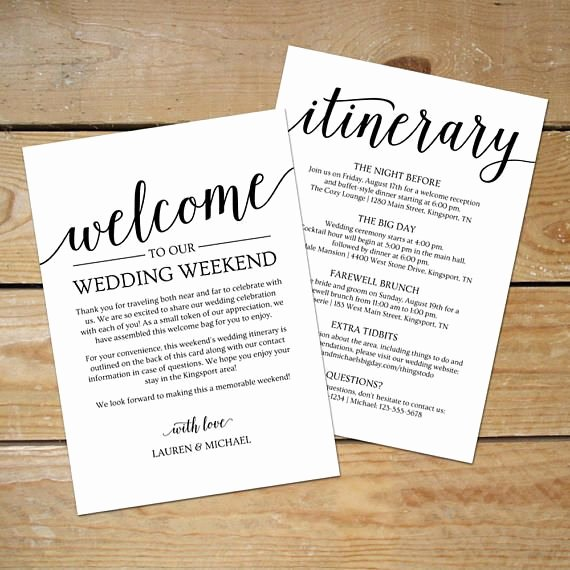 Wedding Welcome Bag Itinerary Template Elegant Best 25 Wedding Itinerary Template Ideas On Pinterest