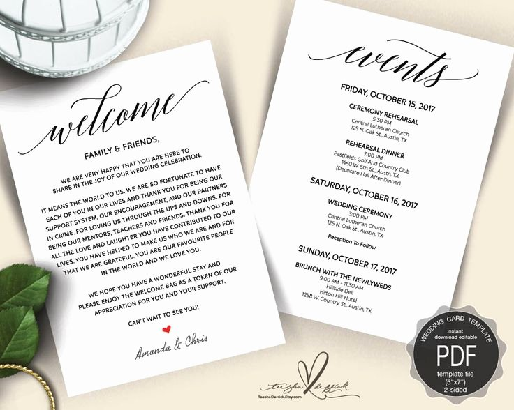 Wedding Welcome Bag Itinerary Template Fresh 25 Best Ideas About Wedding Weekend Itinerary On