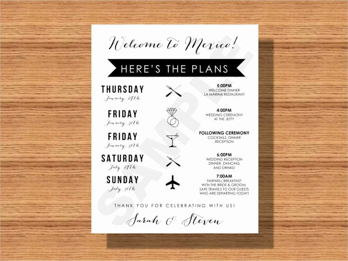 Wedding Welcome Bag Itinerary Template Unique 44 Wedding Itinerary Templates Doc Pdf Psd