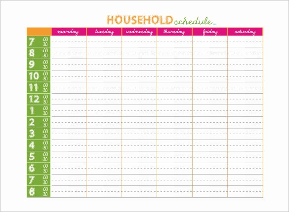 Weekly Family Planner Template Awesome 14 Family Schedule Templates Word Pdf