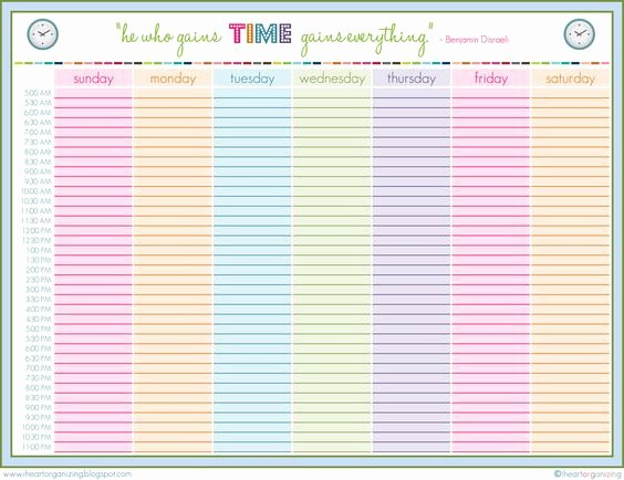 Weekly Family Planner Template Awesome organization – Family Planning 101 – Cavalier Girl