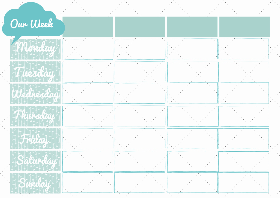 Weekly Family Planner Template Beautiful New 228 Printable Family Weekly Planner