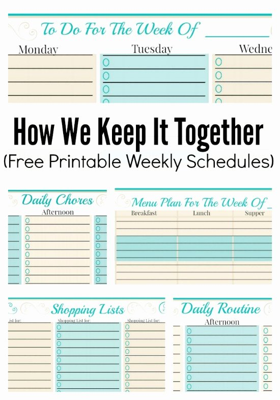 Weekly Family Planner Template Best Of How We Keep It to Her and Free Weekly Planner Templates