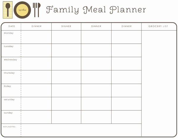 Weekly Family Planner Template Best Of Monthly Meal Planner Free Printable