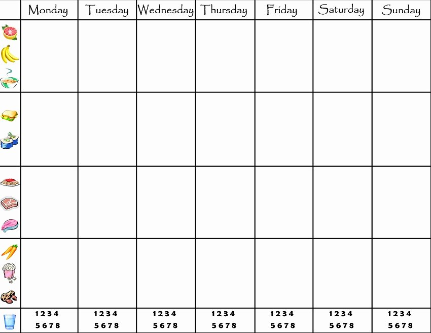 Weekly Family Planner Template Fresh 45 Printable Weekly Meal Planner Templates