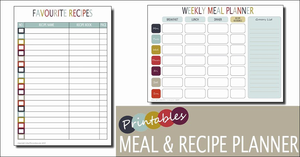 Weekly Family Planner Template Fresh Meal Planning What the Redhead Said