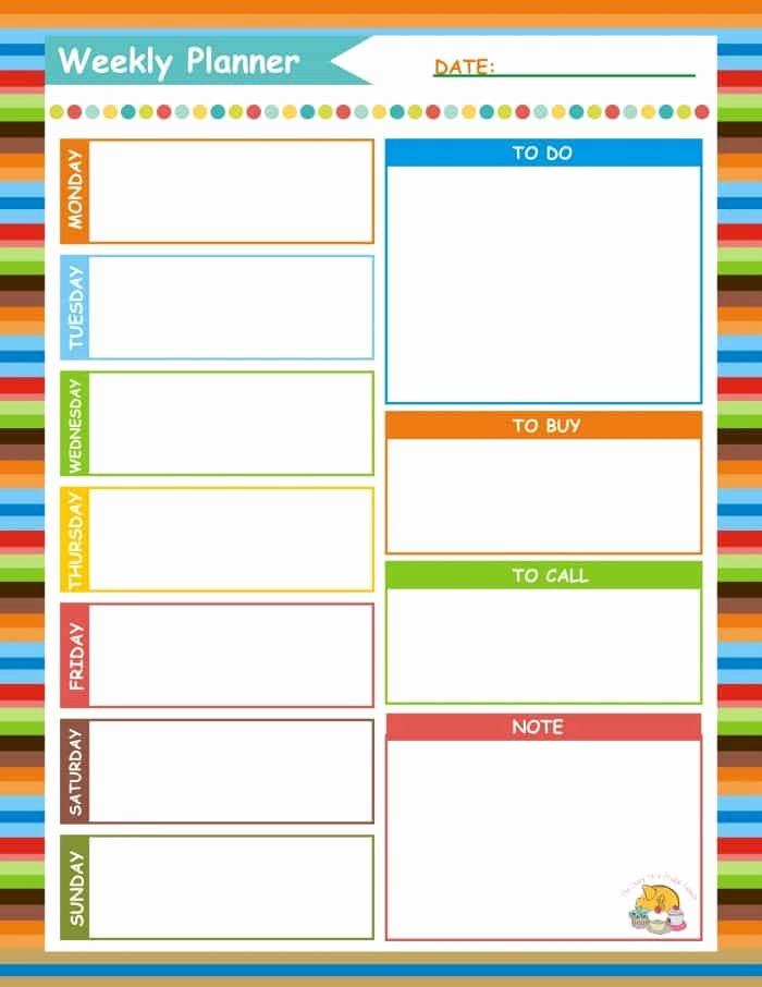 Weekly Family Planner Template Luxury How Just 15 Minutes On A Sunday Can Make the Rest Of Your