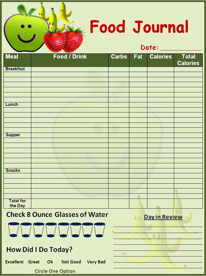 Weekly Food Diary Template Beautiful Best S Of Daily Food Diary Template Printable