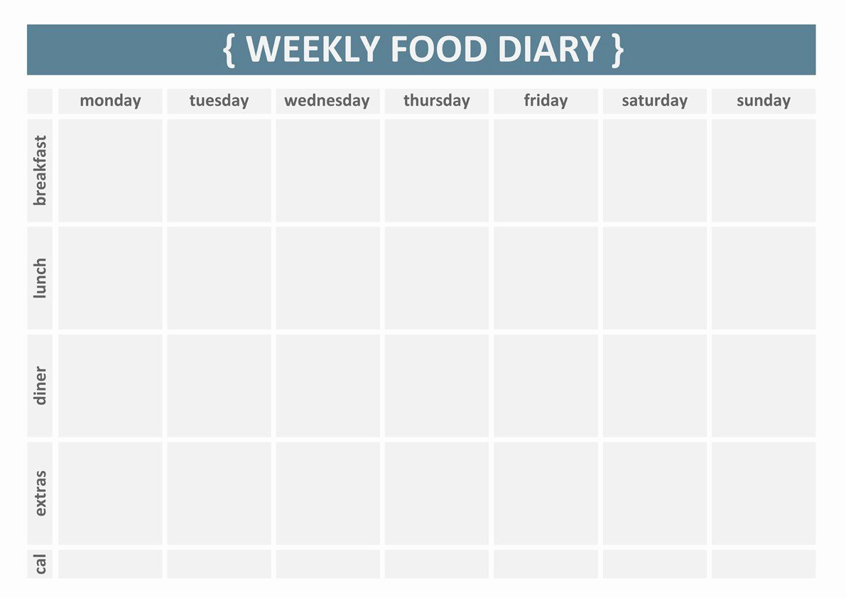 Weekly Food Diary Template Lovely 7 Best Of Printable 7 Day Food Journal Printable