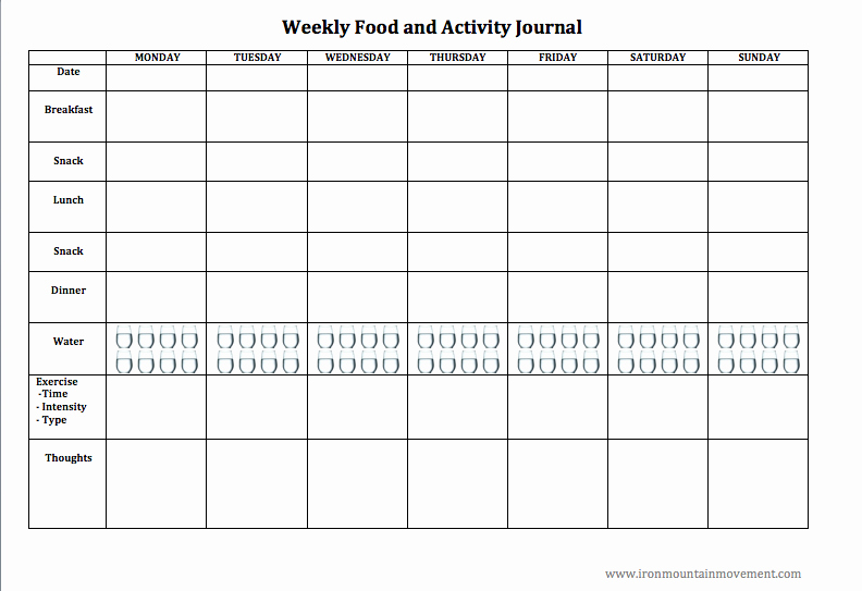 Weekly Food Diary Template Lovely Best S Of Weekly Food Journal Printable Printable