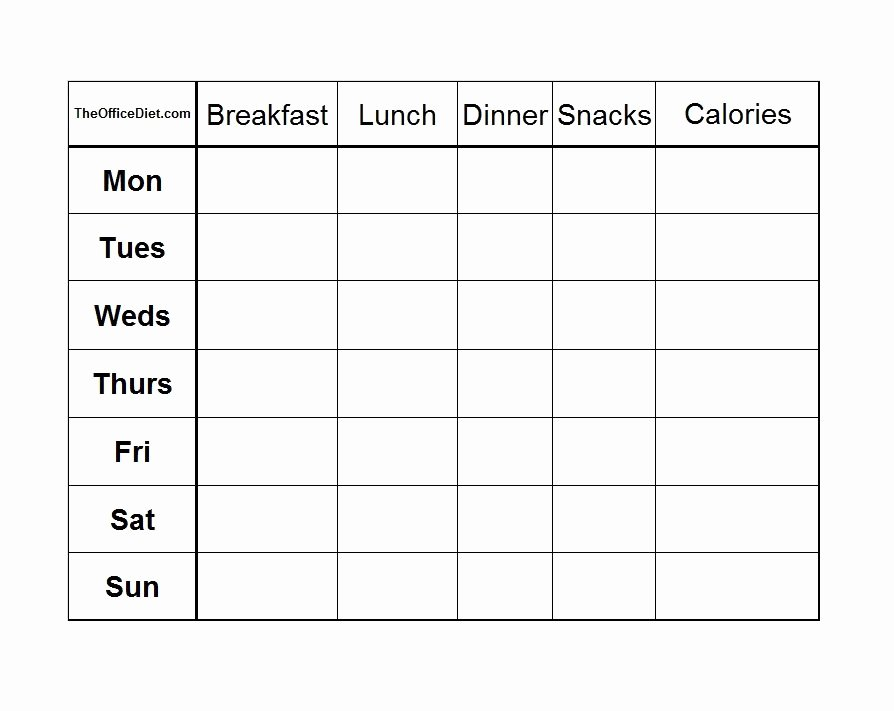 Weekly Food Diary Template Luxury 40 Simple Food Diary Templates & Food Log Examples